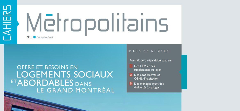 Cahiers métropolitains No3 - décembre 2013