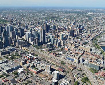 Centre-ville de Montréal vue aérienne | Communauté métropolitaine de Montréal (CMM)
