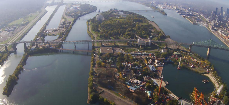 Vue aérienne du Fleuve Saint-Laurent et du Grand Montréal | Communauté métropolitaine de Montréal (CMM)