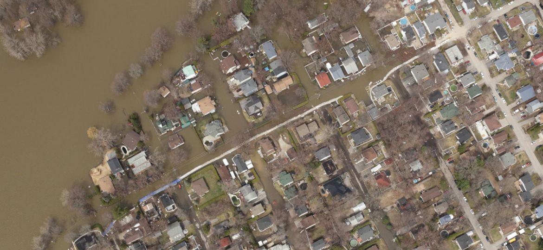 Inondations Grand Montréal, vue aérienne | Communauté métropolitaine de Montréal (CMM)