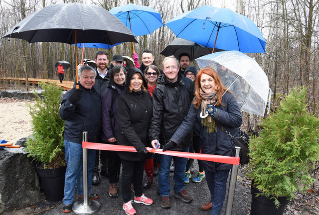 Inauguration du sentier du parc de la Futaie à Boucherville