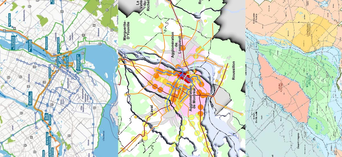Images génériques des différentes cartes de la CMM