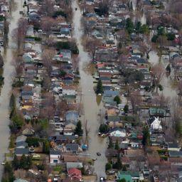 Images inédites des inondations printanières de 2019