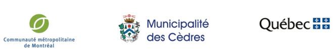 Logos CMM, Municipalité des Cèdres, Gouvernement du Québec
