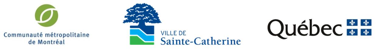 Logos, CMM, Québec et Ville Sainte-Catherine