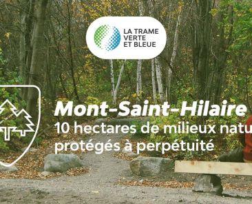 10 hectares de milieux naturels protégés à perpétuité, Mont-Saint-Hilaire | Communauté métropolitaine de Montréal (CMM)