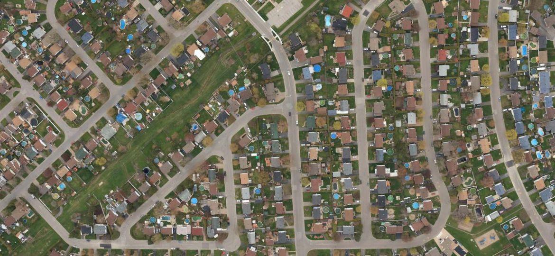 Banlieue, vue aérienne - Aménagement du territoire | Communauté métropolitaine de Montréal (CMM)