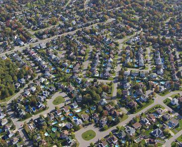 vue aérienne d'une banlieue | Communauté métropolitaine de Montréal (CMM)
