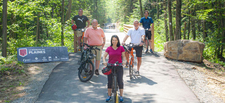 Ouverture de la piste cyclable interrégionale La Seigneurie des Plaines