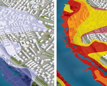 Exemple fictif cartographie des zones inondables