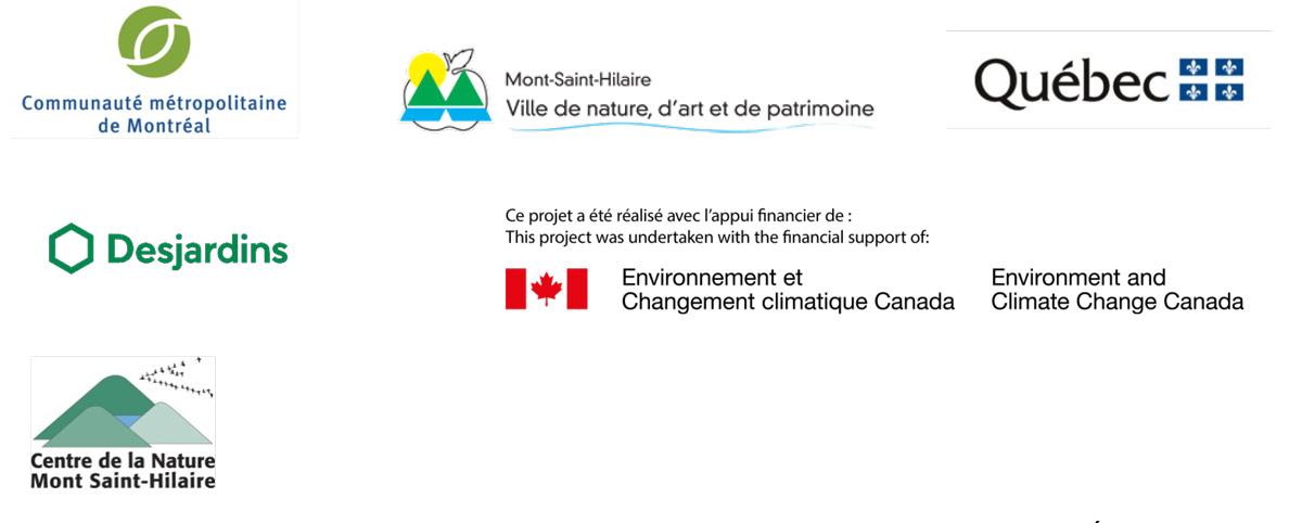 Logos partenaires - projet d'acquisition à des fins de conservation de grande envergure