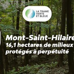 16,1 hectares de milieux naturels acquis à des fins de conservation à perpétuité à Mont-Saint-Hilaire