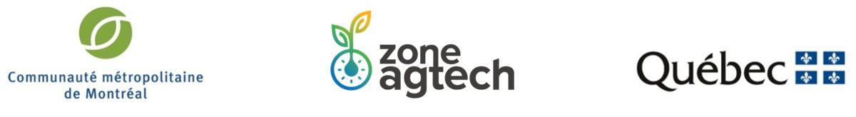 Logos Partenaires - Gouvernement du Québec, Zone Agtech et CMM