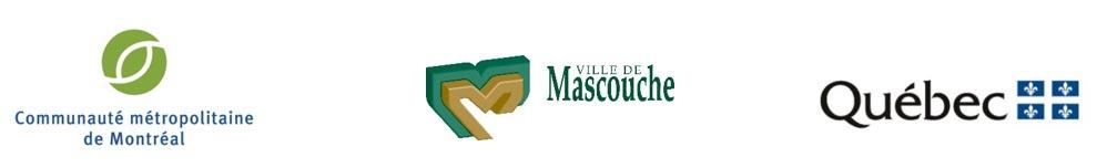 Logos de la CMM, de la Ville de Mascouche et de Québec