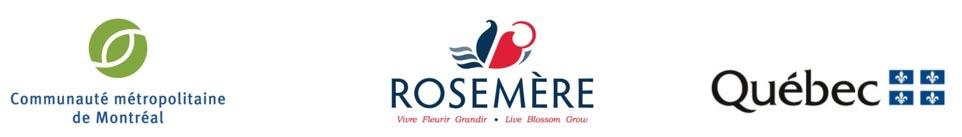 Logos partenaires - CMM, Rosemère et Québec