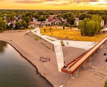 Inauguration de la plage de l'Est