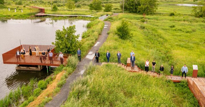 Le secteur marais du parc de conservation du ruisseau de Feu à Terrebonne
