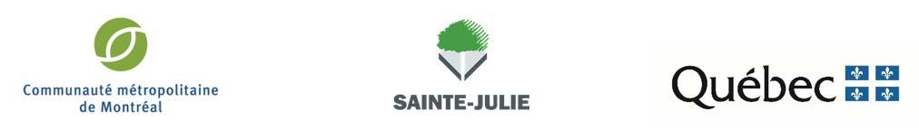 Logos : CMM, Sainte-Julie et Québec