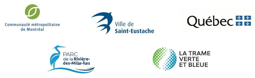 Logos partenaires - nouveau site de location d'embarcations non motorisées de Saint-Eustache