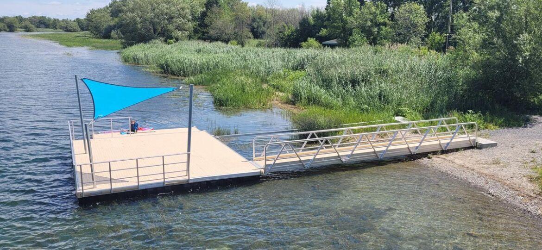 Quais et végétalisation des berges de la rivière Châteauguay