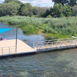 Fin des travaux d'installation des quais et de végétalisation des berges de la rivière Châteauguay