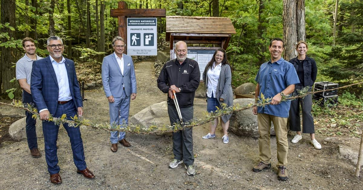 Inauguration de 5 km de sentiers accessibles à la Réserve du Piémont-du-Mont-Saint-Hilaire