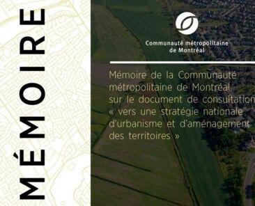 Couverture - Mémoire Vers une Stratégie nationale d'urbanisme et d'aménagement des territoires